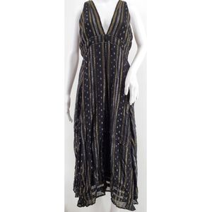 Anthropologie Metallic Embellished Dress Size 8